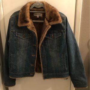 Marvin Richards Faux Fur Denim Jacket!